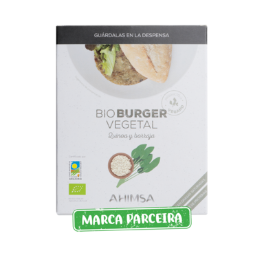Hamburger vegan quinoa borragem