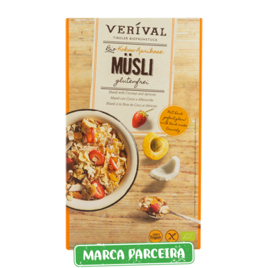 verival muesli coco e damasco biologico